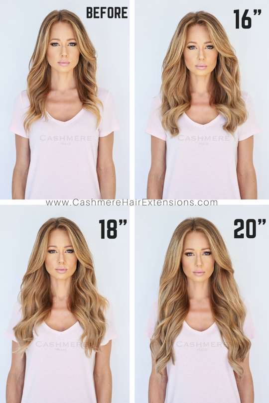 16 inch hair extensions before and after the best hair 2017 before after estelles secret pmusecretfo Images