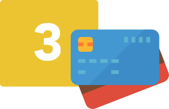 Step three card image on how the Cash on Web works, is create your cards with the virtual payment cards.
