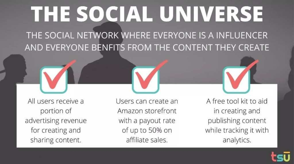 Tsu social platform benefits affiliate revenue earn