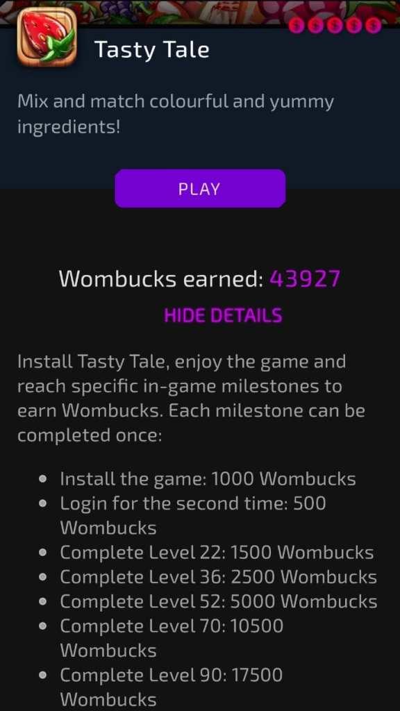 Tasty Tale on Womplay