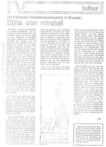 BIJNA EEN MIRAKEL artikel Kultuur 1978