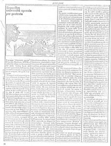 BRUXELLES UNIVERSITA' OPERAIA PER PROTESTA articolo LA ROCCA 1975