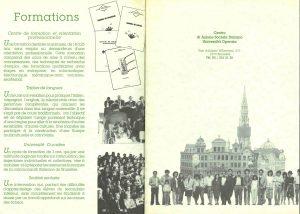 brochure CASI-UO Formations 1990