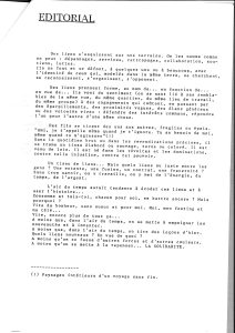 LA PIAZZA N.5 Février 1989 editorial