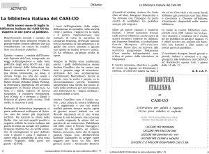 LA PIAZZA N.79 Décembre 2005 La biblioteca italiana del CASI-UO