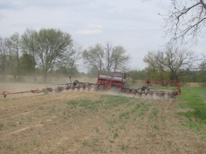 The corn planter is very flexible for moving over a terrace