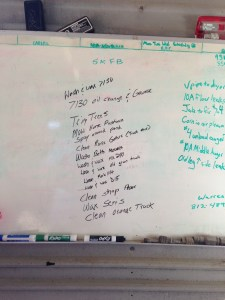 Here is the list of stuff to do over the next several days.  Should be no boredom here!
