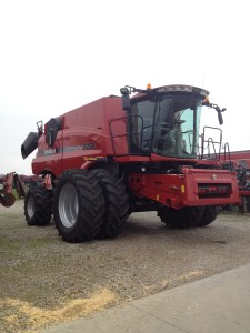 The new 8230 sits at the dealer in Poseyville, Indiana... ready for delivery soon
