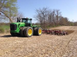 Smoothing ruts at the Roberson farm.