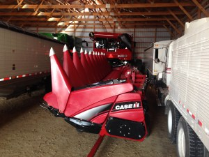The new CIH 4412F corn head
