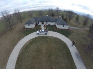 Here's a picture taken from the Phantom 2 with the GoPro camera.  It's fun to watch this thing fly.