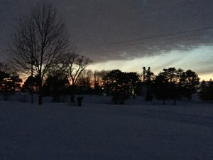 The snow clouds moved away to the east just in time to allow the setting sun some special moments