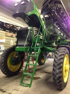 Sprayer in the shop today