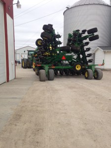 The 1890 NT air drill sits in front of the shop in order reach all 20 tires with the air hose!