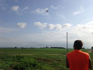 John sends the drone on its way over Burke.