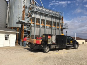 The guys from MAS are installing an upgrade to the grain dryer today.