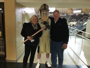 """We were greeted by """"Purdue Pete""""!"""