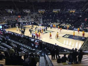 There are no 'bad' seats in Mackey, but our view for this game was pretty good!