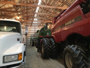 As we rolled inside the storage shed, you could hear the rain pounding the roof!