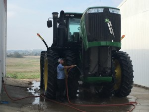 Brandon washes the 9360R