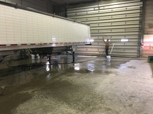 There's a lot of surface area to get washed on this trailer.