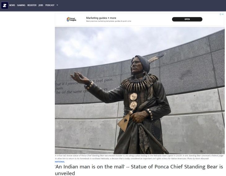 Chief Standing Bear Statue