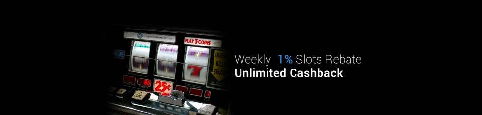 9Club Weekly 1% Slots Rebate Unlimited Cashback