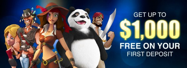 Online Slots.LV First Deposit Bonus $1000