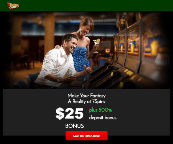 7 Spins Online Casino $25 Free No Depsoit Bonus