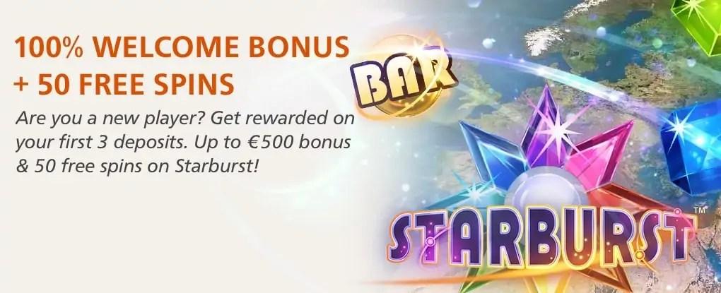 InstaCasino - 100% Welcome Bonus + 50 free Spins