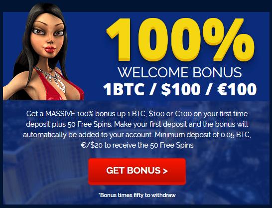 BetChain Bitcoin Casino 100% Welcome Bonus 1 BTC