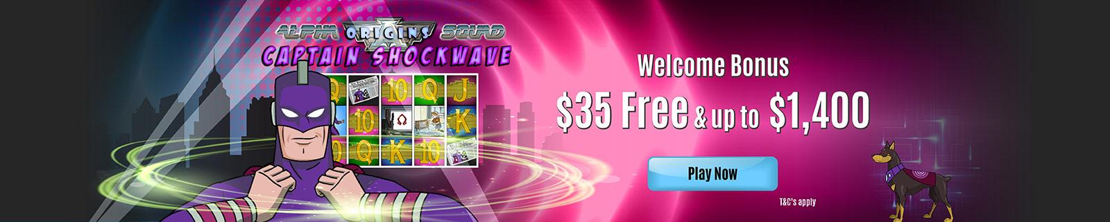 Jackpot Wheel No Deposit Bonus $35 FREE up to $1400 Welcome Bonus