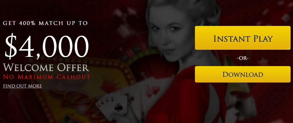 Lucky Red Casino 400% Welcome Bonus Up to $4000