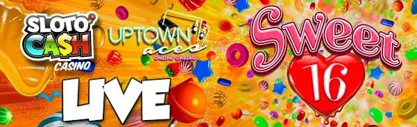 SlotoCash Casino Uptwon Aces RTG Sweet 16 LIVE