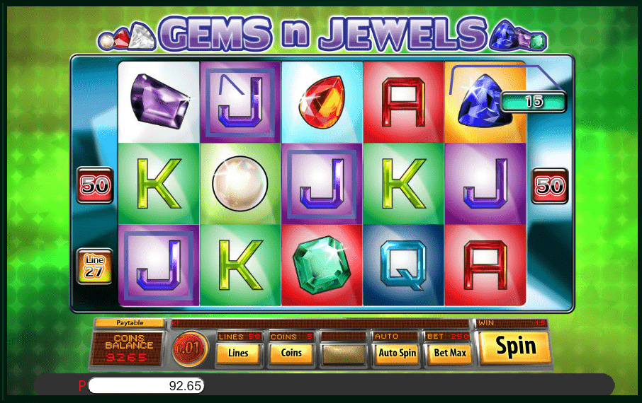 Gems N Jewels Saucify 5reels Video Slot