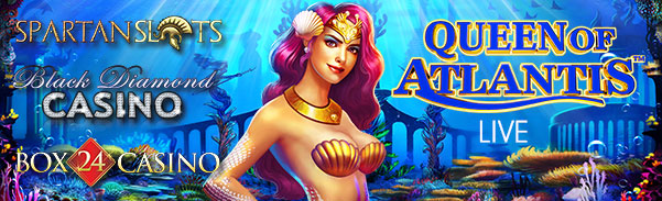 Black Diamond Box 24 Spartan Slots Queen of Atlantis