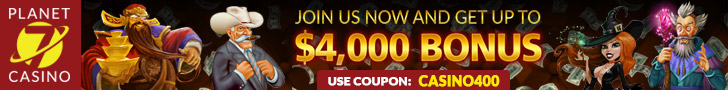 Planet 7 Casino $55 FREE Chip and 350% Bonus