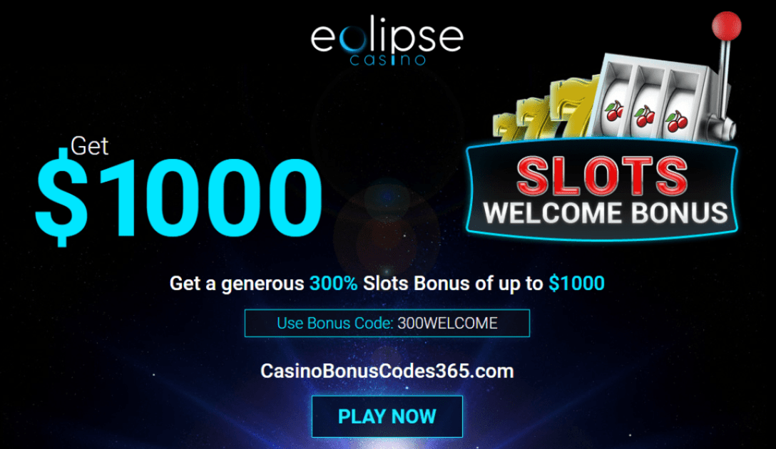 Eclipse Casino 300% Match $1000 Welcome Bonus