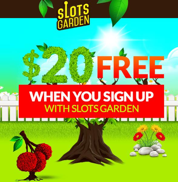 slots garden 20 free chip - Slots Garden Casino