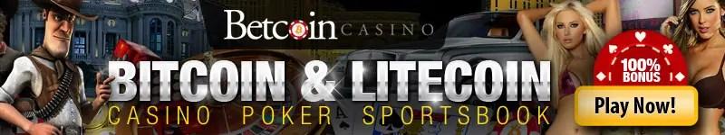 Betcoin Casino 100% First Deposit Bonus