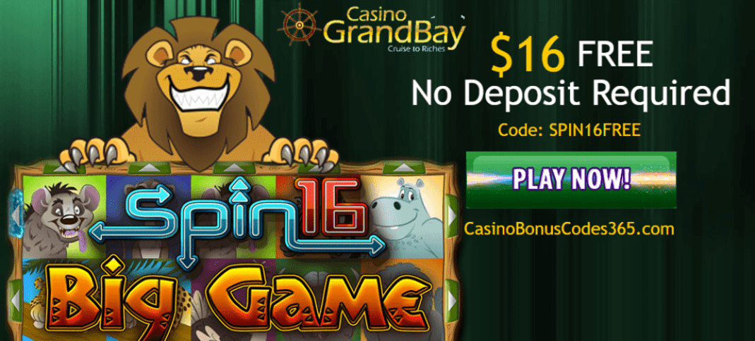 Casino GrandBay 16 FREE Spins on Big Game
