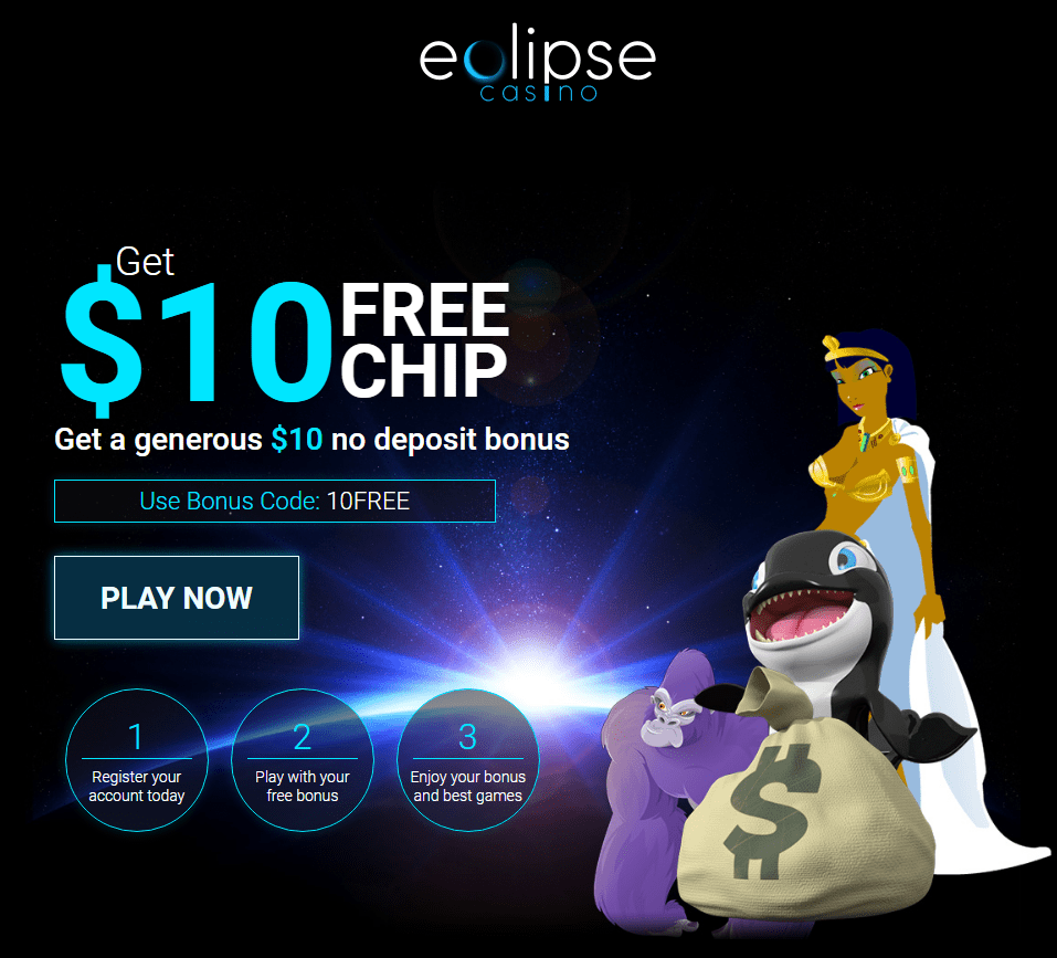 Eclipse Casino $10 FREE Chip No Deposit Bonus