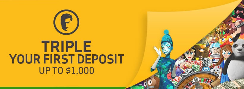 Joe Fortune Triple your First Deposit up to $1000