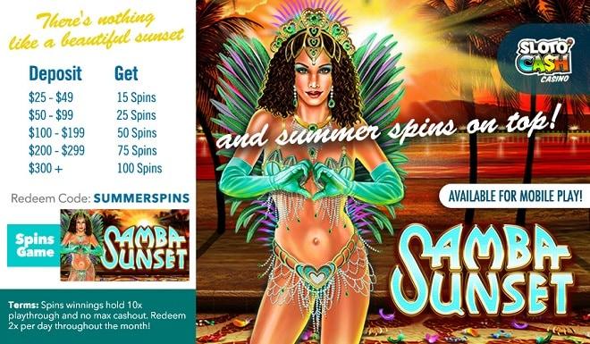 SlotoCash Casino SummerSpins