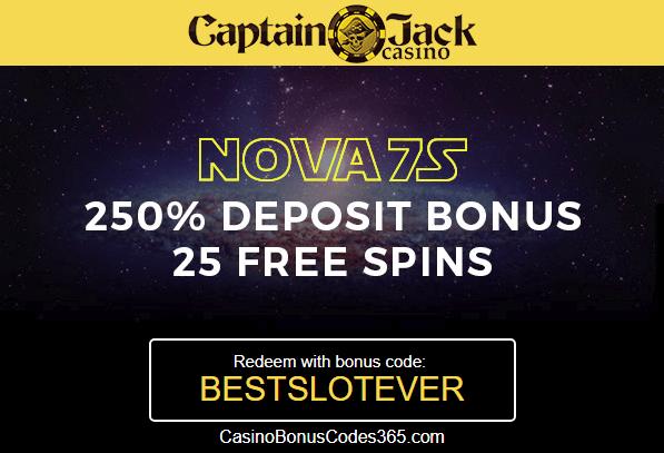 Captain Jack Casino 250 Match Bonus And 25 No Deposit Free Spins