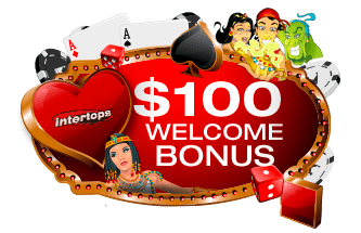 Intertops Casino Red 100% up to $100 Welcome Bonus