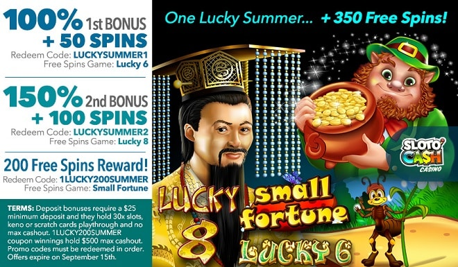 SlotoCash Casino One Lucky Summer