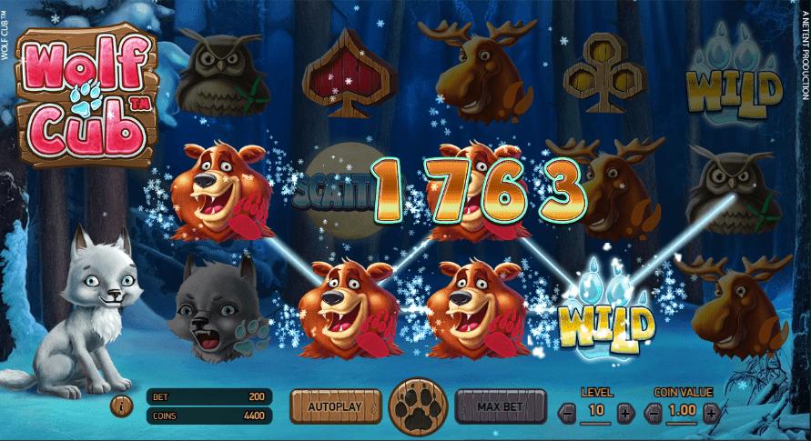 GrandWild Casino NetEnt Wolf Cub Slot