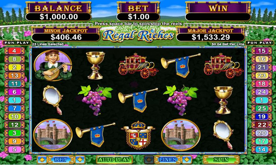 Planet 7 Casino 25 No Deposit FREE Spins RTG Regal Riches