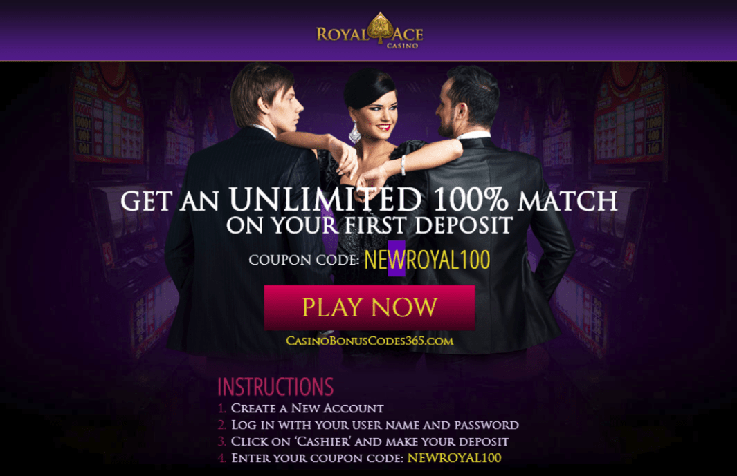 Royal Ace Casino 100% Bonus